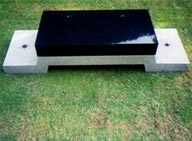 Base for Fixing Lawn Memorials