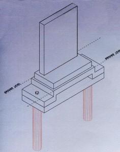 Slot Base for Monoliths Diagram